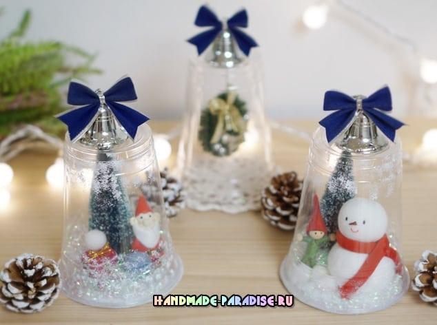 Новогодние игрушки своими руками из пластиковых стаканчиков на елку