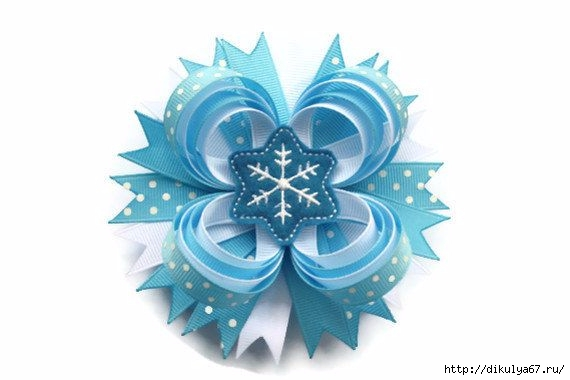 Снежинки из лент и ткани. Обсуждение на LiveInternet - Российский Сервис Онлайн-Дневников