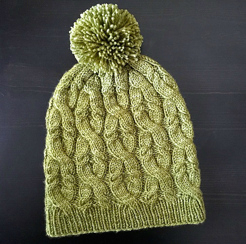 Sultana Cabled Hat by Veronica Parsons (505x500, 319Kb)