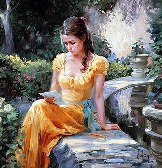 Девушка в платье ситца песня