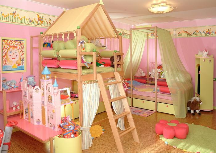 alt=Дизайн детской игровой комнаты