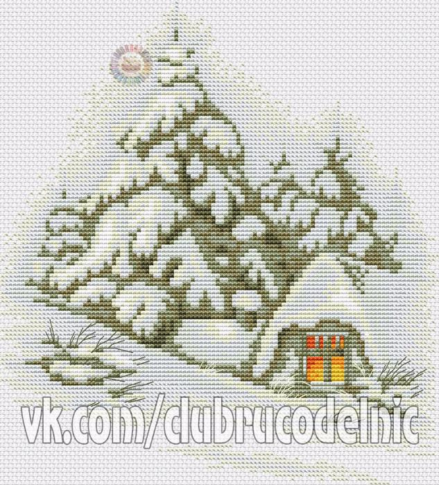 Зимний пейзаж (633x700, 627Kb)