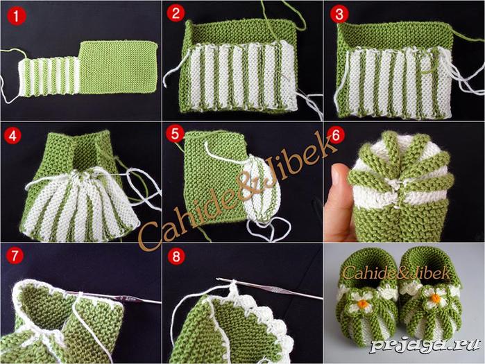 Пошаговое вязание пинеток с фото спицами
