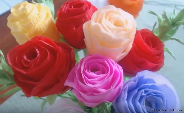 Своими руками букет роз из гофрированной бумаги (2) (700x431, 166Kb)