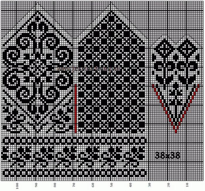 Норвежские узоры схемы для вязания спицами варежек