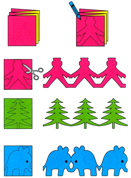 Схемы объемных гирлянд из бумаги своими руками