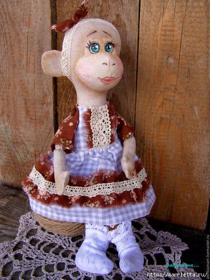Шьем талисман на удачу - текстильную обезьянку (3) (420x560, 194Kb)