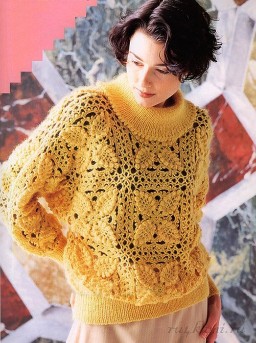 свитер крючком - Самое