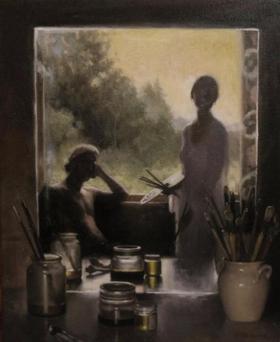 06  In The Studio 2.. sommer 2008 38x48cm (573x700, 301Kb)