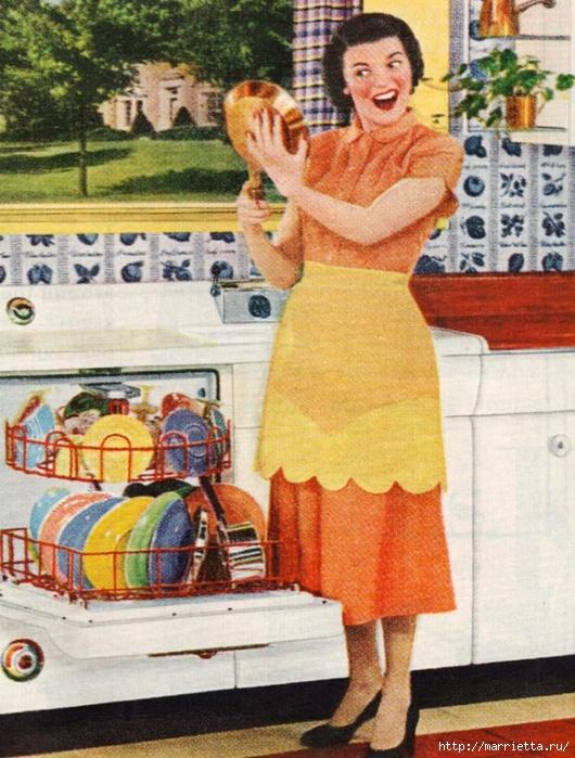 Винтажные картинки для творчества. Домохозяйки (1) (530x700, 344Kb)