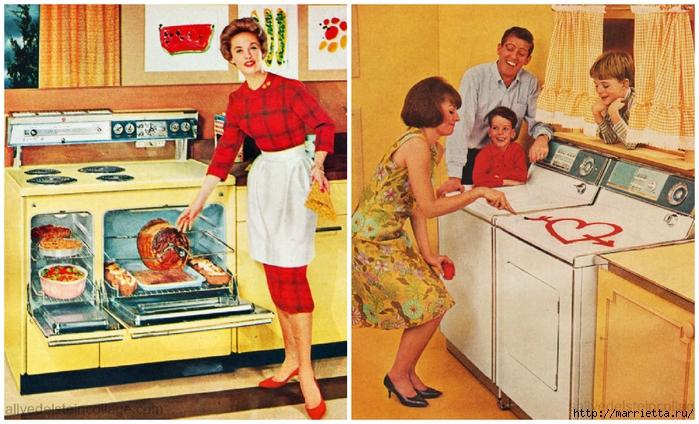 Винтажные картинки для творчества. Домохозяйки (26) (700x424, 304Kb)