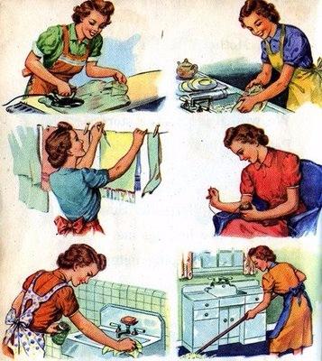 Винтажные картинки для творчества. Домохозяйки (32) (357x400, 195Kb)