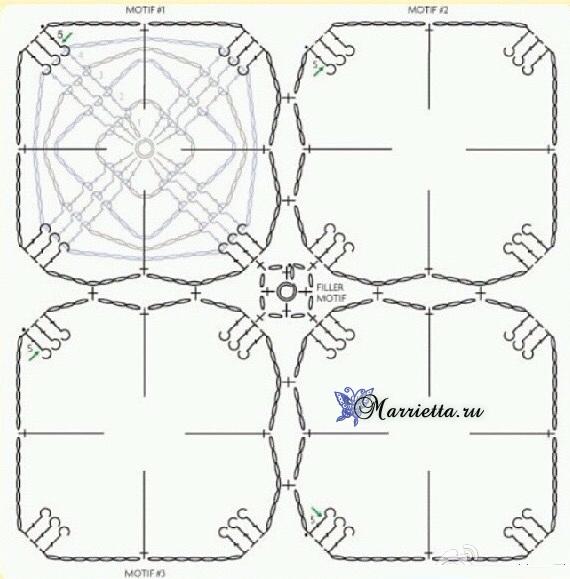 """钩针模式:三色""""四叶花"""" - maomao - 我随心动"""
