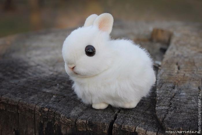 Пушистый пасхальный кролик в технике сухое валяние (7) (700x466, 184Kb)