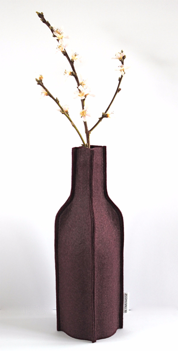 Войлочные вазы для цветов - чехлы на бутылки (6) (355x700, 148Kb)