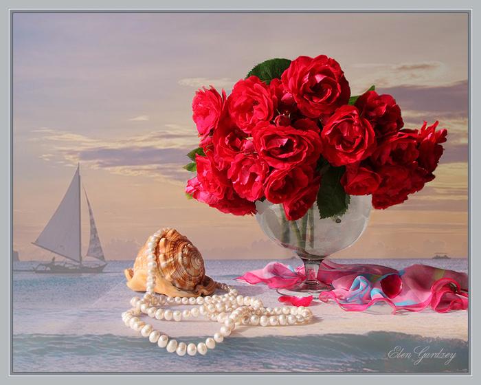 Открытки с цветами красивые букеты