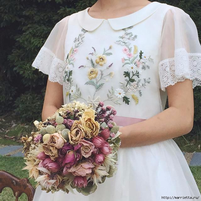 Свадебное платье с вышивкой. Нежная идея (2) (640x640, 212Kb)