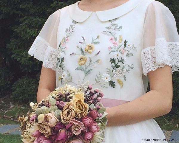 Свадебное платье с вышивкой. Нежная идея (4) (600x480, 150Kb)