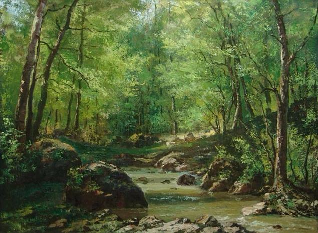 Лесной ручей (635x465, 393Kb)