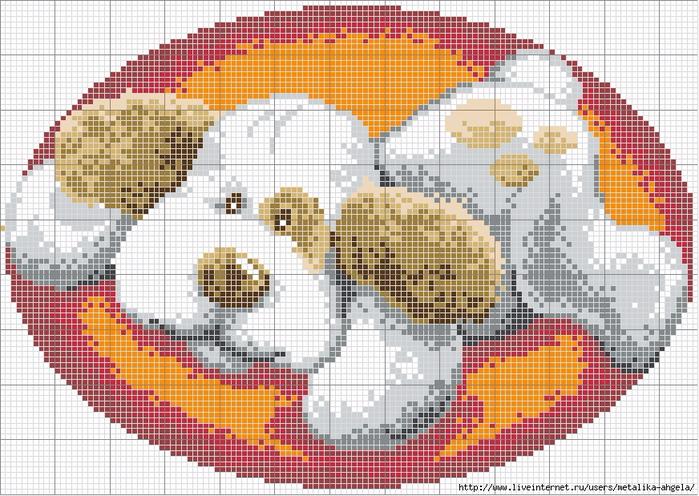 собачка ковр. техн. цвет.схема (700x496, 492Kb)