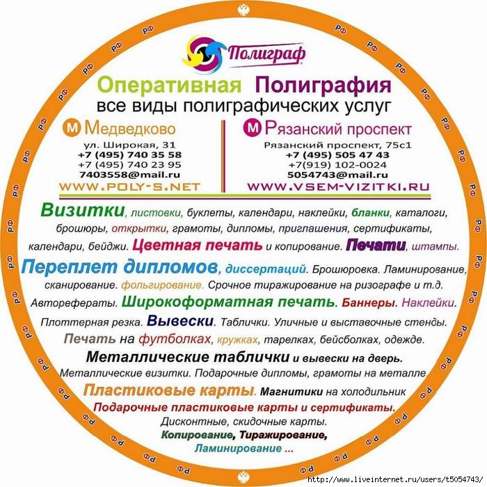 Наклейка круглая Полиграфия (700x700, 412Kb)