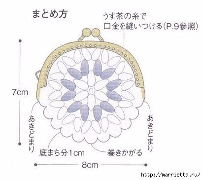Кошельки крючком для фермуара. Схемы (4) (412x365, 75Kb)