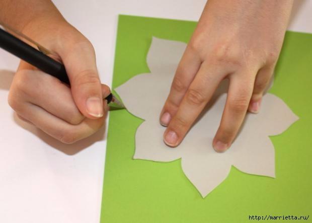 Корзинка из бумаги для пасхального яйца. Творчество с детьми (3) (620x443, 79Kb)