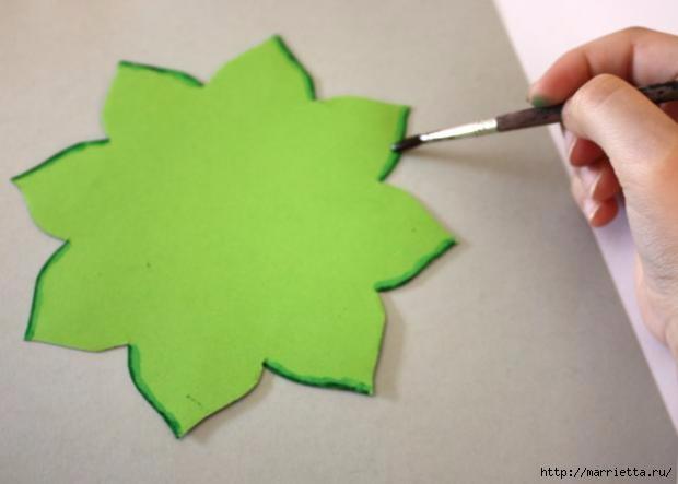 Корзинка из бумаги для пасхального яйца. Творчество с детьми (7) (620x443, 75Kb)