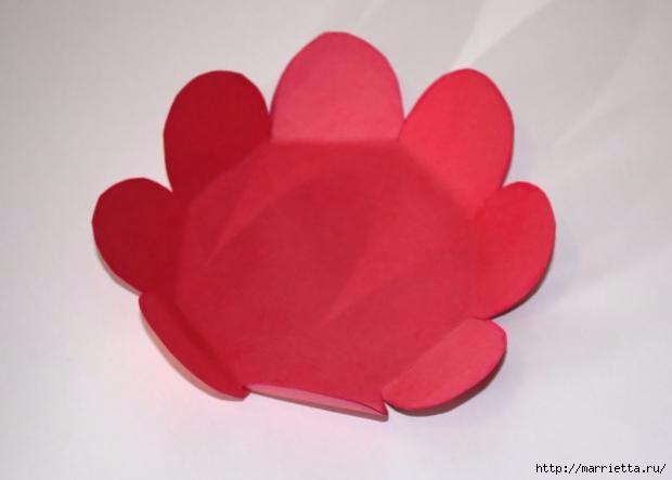 Корзинка из бумаги для пасхального яйца. Творчество с детьми (12) (620x443, 57Kb)