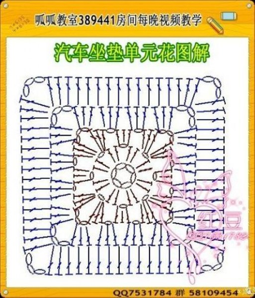 Схемы вязания крючком сидений
