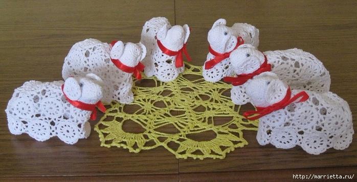 Пасхальное вязание крючком. ОВЕЧКИ (39) (700x357, 230Kb)