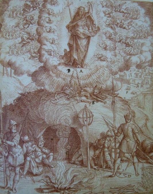Бернардино Passeri (ок. 1540-96) воскресение (533x675, 197Kb)
