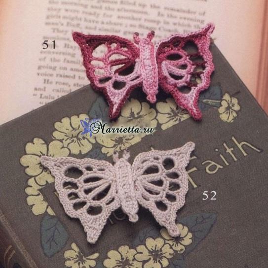 Бабочки с ажурными крылышками крючком (1) (543x544, 136Kb)