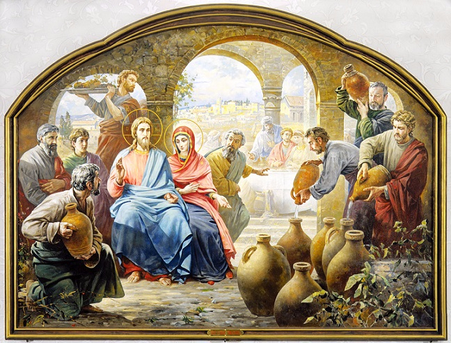Брак в Кане Галилейской. Патриаршая трапезная Храма Христа Спасителя (648x494, 486Kb)