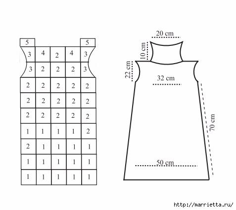 Платье крючком из черных квадратов с белой обвязкой (3) (477x426, 54Kb)