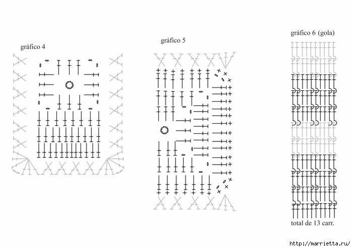 Платье крючком из черных квадратов с белой обвязкой (5) (700x493, 125Kb)
