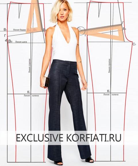 Пошив женских брюк пошаговая инструкция видео