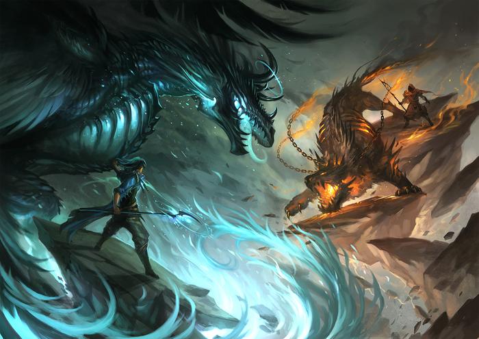 mage_battle_by_sandara-d5s76v7 (700x495, 380Kb)