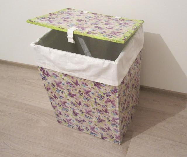 Ящик из картона и ткани