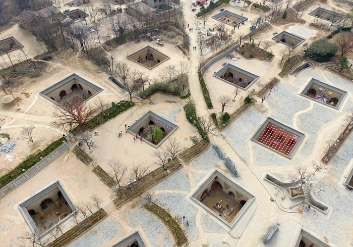 пещерные дома Яодонг 2 (700x489, 414Kb)