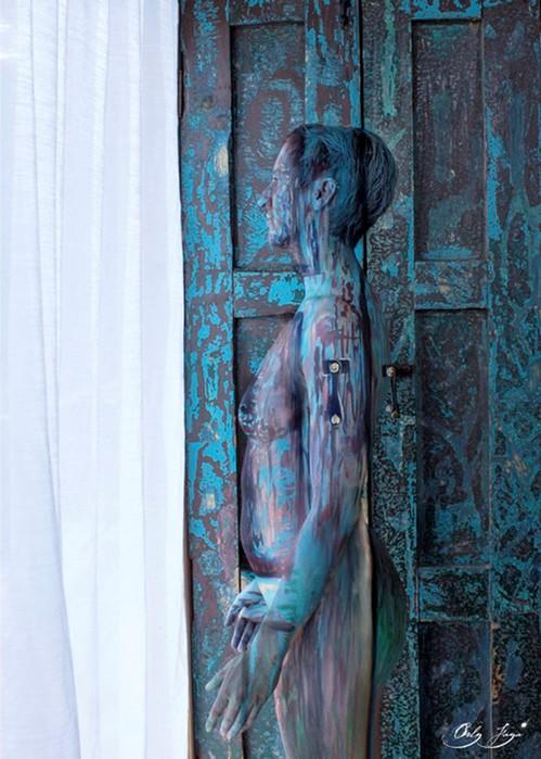 Роспись по телу - идеальный камуфляж