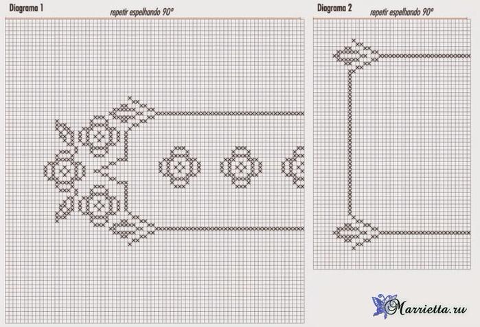 Сервировочные салфетки из пластиковой канвы с вышивкой (3) (700x476, 323Kb)