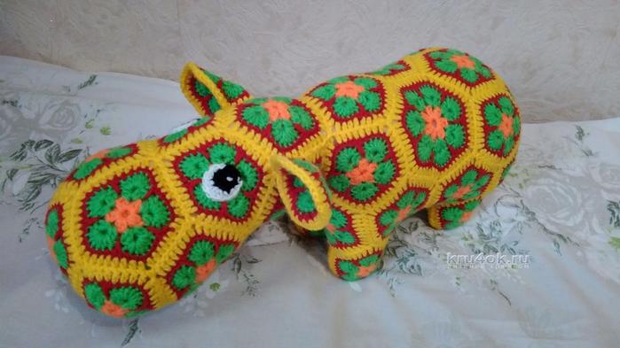 Вязание африканский цветок мастер класс