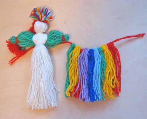 Куклы из ниток своими руками для детей в картинках 1