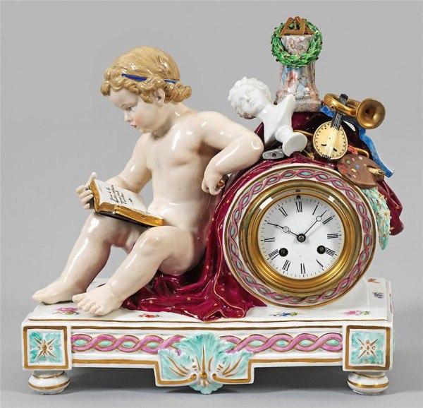 фарфоровые часы антиквариат 16 (600x578, 284Kb)