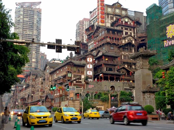 китайский город Чунцин фото 17 (700x520, 451Kb)