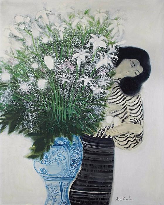 Grand bouquet au vase de Sicile (560x700, 448Kb)