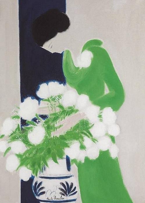 Зеленое платье (498x696, 219Kb)