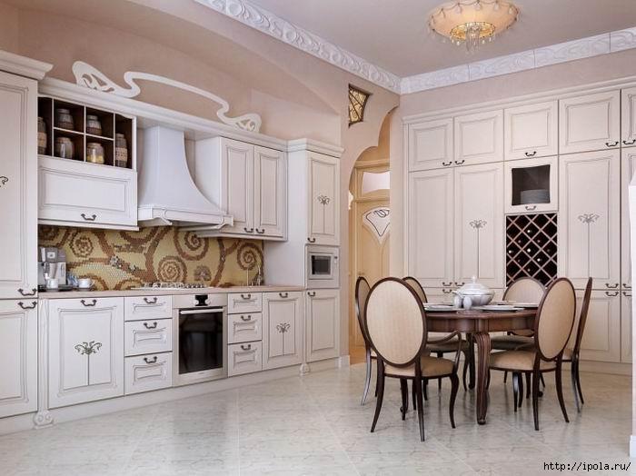 """alt=""""Современная классика в дизайне кухни – красота и практичность.""""/2835299__1_ (700x524, 153Kb)"""