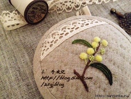 Объемная вышивка. Ромашки, одуванчики, хризантемы и мимоза (18) (460x346, 136Kb)